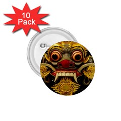 Bali Mask 1 75  Buttons (10 Pack)