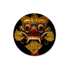 Bali Mask Rubber Round Coaster (4 Pack)