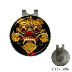 Bali Mask Hat Clips With Golf Markers