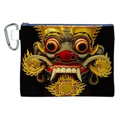Bali Mask Canvas Cosmetic Bag (xxl)