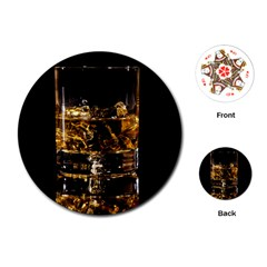 Drink Good Whiskey Playing Cards (round)
