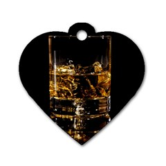 Drink Good Whiskey Dog Tag Heart (one Side)