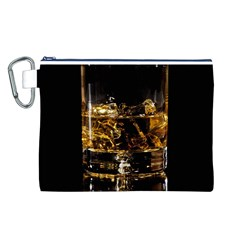 Drink Good Whiskey Canvas Cosmetic Bag (l)