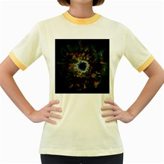 Crazy  Giant Galaxy Nebula Women s Fitted Ringer T Shirts