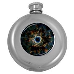 Crazy  Giant Galaxy Nebula Round Hip Flask (5 Oz)