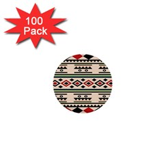 Tribal Pattern 1  Mini Buttons (100 Pack)