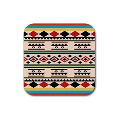 Tribal Pattern Rubber Square Coaster (4 Pack)