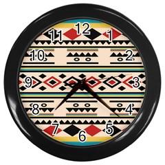 Tribal Pattern Wall Clocks (black)
