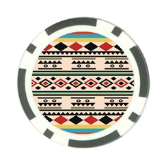 Tribal Pattern Poker Chip Card Guard