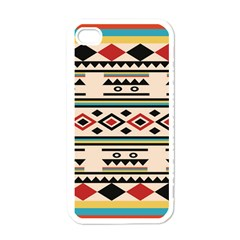 Tribal Pattern Apple Iphone 4 Case (white)