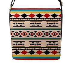 Tribal Pattern Flap Messenger Bag (l)