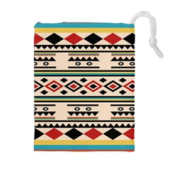 Tribal Pattern Drawstring Pouches (extra Large)