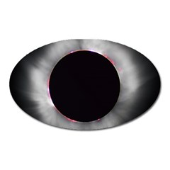 Solar Eclipse Oval Magnet