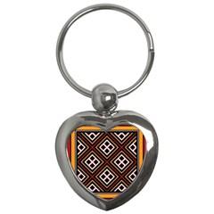Toraja Pattern Pa re po  Sanguba ( Dancing Alone ) Key Chains (heart)