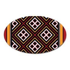 Toraja Pattern Pa re po  Sanguba ( Dancing Alone ) Oval Magnet