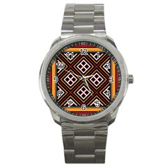 Toraja Pattern Pa re po  Sanguba ( Dancing Alone ) Sport Metal Watch