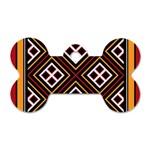 Toraja Pattern Pa re po  Sanguba ( Dancing Alone ) Dog Tag Bone (Two Sides) Back