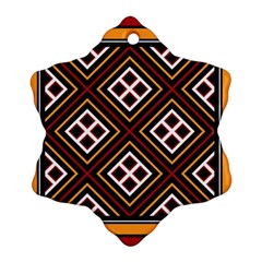 Toraja Pattern Pa re po  Sanguba ( Dancing Alone ) Snowflake Ornament (two Sides)