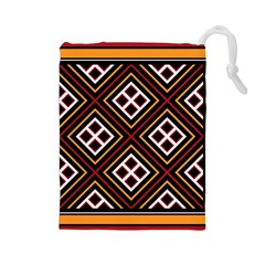 Toraja Pattern Pa re po  Sanguba ( Dancing Alone ) Drawstring Pouches (large)