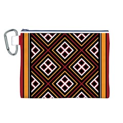 Toraja Pattern Pa re po  Sanguba ( Dancing Alone ) Canvas Cosmetic Bag (l)
