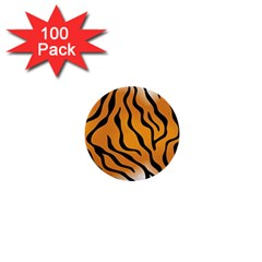 Tiger Skin Pattern 1  Mini Buttons (100 Pack)