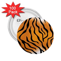 Tiger Skin Pattern 2 25  Buttons (100 Pack)