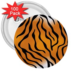 Tiger Skin Pattern 3  Buttons (100 Pack)