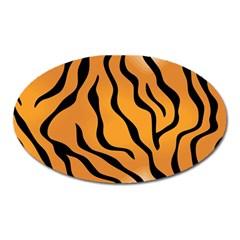 Tiger Skin Pattern Oval Magnet