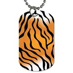 Tiger Skin Pattern Dog Tag (two Sides)