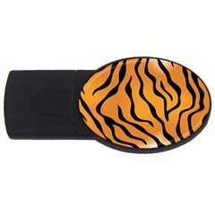 Tiger Skin Pattern Usb Flash Drive Oval (2 Gb)