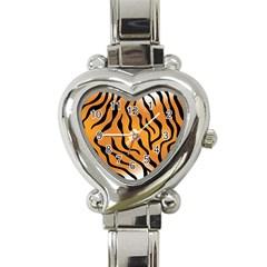 Tiger Skin Pattern Heart Italian Charm Watch