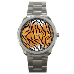 Tiger Skin Pattern Sport Metal Watch