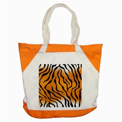Tiger Skin Pattern Accent Tote Bag