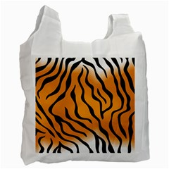 Tiger Skin Pattern Recycle Bag (one Side)