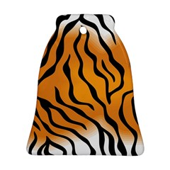 Tiger Skin Pattern Bell Ornament (two Sides)