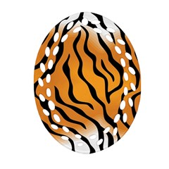 Tiger Skin Pattern Ornament (oval Filigree)