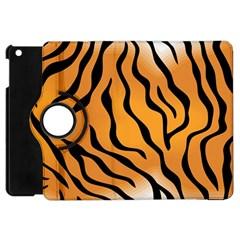 Tiger Skin Pattern Apple Ipad Mini Flip 360 Case