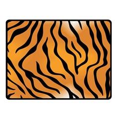 Tiger Skin Pattern Double Sided Fleece Blanket (small)