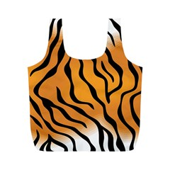 Tiger Skin Pattern Full Print Recycle Bags (m)