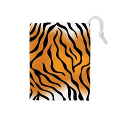 Tiger Skin Pattern Drawstring Pouches (medium)