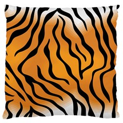 Tiger Skin Pattern Large Flano Cushion Case (two Sides)