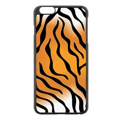 Tiger Skin Pattern Apple Iphone 6 Plus/6s Plus Black Enamel Case