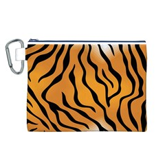 Tiger Skin Pattern Canvas Cosmetic Bag (l)