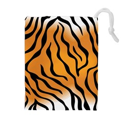 Tiger Skin Pattern Drawstring Pouches (extra Large)