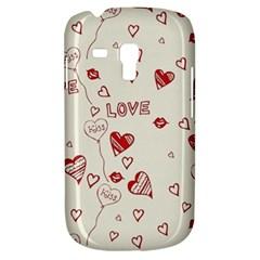 Pattern Hearts Kiss Love Lips Art Vector Galaxy S3 Mini