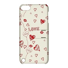 Pattern Hearts Kiss Love Lips Art Vector Apple Ipod Touch 5 Hardshell Case With Stand