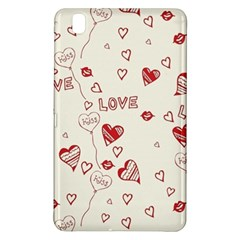 Pattern Hearts Kiss Love Lips Art Vector Samsung Galaxy Tab Pro 8 4 Hardshell Case