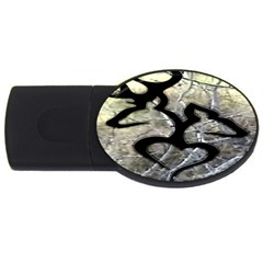 Black Love Browning Deer Camo Usb Flash Drive Oval (2 Gb)
