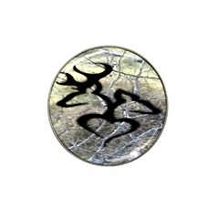 Black Love Browning Deer Camo Hat Clip Ball Marker