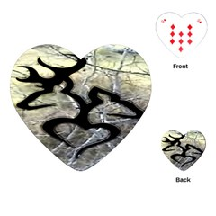 Black Love Browning Deer Camo Playing Cards (heart)